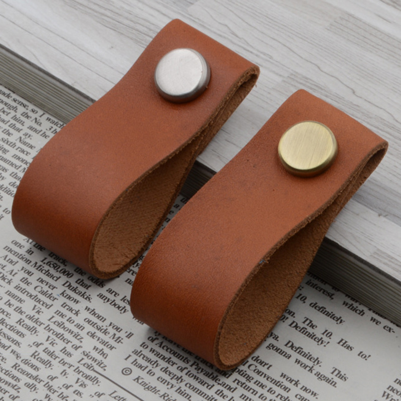 Leather Pull Handle Replacement For Doors Cabinets Cupboards Knob DIY Craft UKLeather Pull Handle Replacement For Doors Cabinets Cupboards Knob DIY Craft UK
