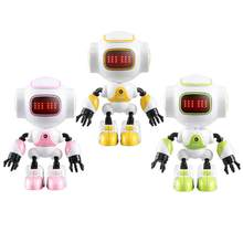 R9 RC Robot Touch Sensing LED Eyes Smart Voice DIY Gesture Alloy Body Mini Robot Model Toy Gift for Children(China)