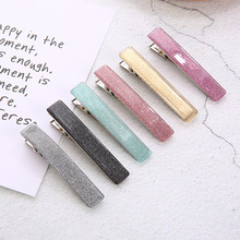 Sale Acrylic Acid rectangle Women Hair Clip Glitter Hairpins geometric Sweet Girls Barrettes Accessories
