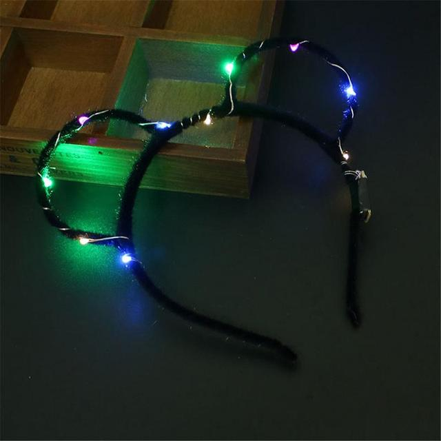 New LED Headbands Party Light Flashing Blinking Party Wear Hair Glow Party Christmas Gifts Atmosphere Props