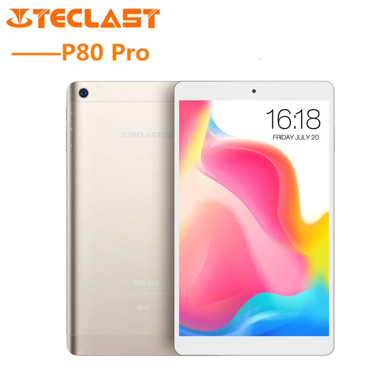 Teclast P80 Pro Tablet PC 8.0 ''Android 7.0 MTK8163 Quad Core 1.3 GHz 3 GB RAM 16 GB/ 32 GO eMMC ROM Double Caméras Double WiFi HDMI