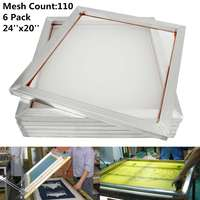 6Pcs Set 50X60cm Aluminum Silk Screen Printing Press Screen Frame 110 Mesh Count for High precision Printed Circuit Boards