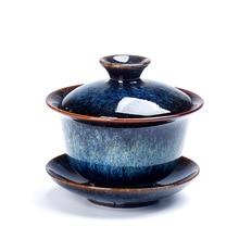 Цзиндэчжэнь красочные Gaiwan кунг-фу Путешествия Чайный набор чашка DaHongPao TieGuanYin супница фарфор Молочный Улун чай Юньнань керамика Япония