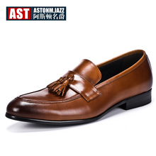 New Arrival Tassel Oxfords Men Full Grain Leather Fringe Shoes Hight End Pointed Toe Casual Man US 6-12 Handsome