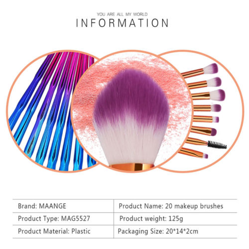 Hot Sale 20PCS Makeup Brushes Set Foundation Blush Face Powder Eye Shadow Brushes Women Cosmetic Makeup Tool in Eye Shadow Applicator from Beauty Health