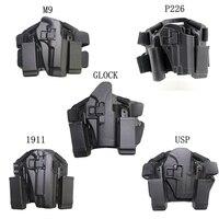 Black Tan CQC For Glock USP P226 M9 1911 Gun Holster Airsoft Combat Thigh Leg Holster Platform Hunting Gun Accessories