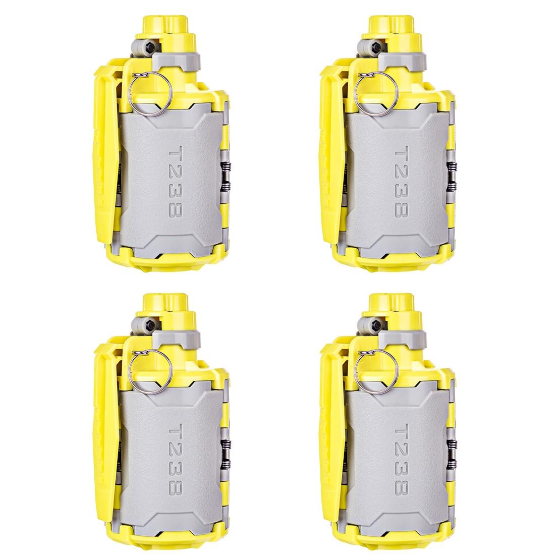 4 pièces Gel boule bombe T238 V2 grande capacité perles d'eau bombe jouet avec fonction temporisée pour Nerf Paintball BBs Airsoft Wargame