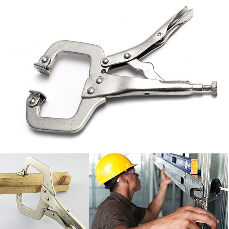 C Clamp weld Clip Woodwork Tenon Locator Grip Vise Lock Jaw Swivel Pad Wood Fix Plier Pincer Tong Work Alloy Steel Hand tool|Pliers|   - AliExpress