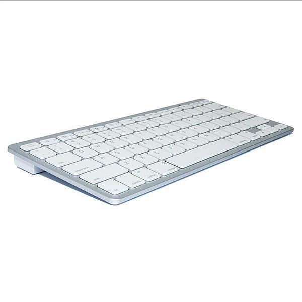 Portabel Bluetooth Wireless Keyboard Tombol Chiclet Putih untuk iPad Iphone Macbook Android Tablet PC Windows IOS Mini Keyboard