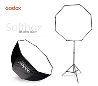 Godox Photo Studio 80cm 31.5in Portable Octagon Flash Speedlight Speedlite Umbrella Softbox Brolly Reflector with 2m Light Stand