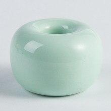 Respetuoso del medio ambiente Base Color caramelo forma de Donut  antideslizante multifuncional en baño de cerámica titular de ce. aeccc93cdf08
