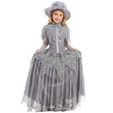 Deluxe Girls Ghost Bride Costume Cosplay Kids Halloween Princess Dress Clothing For