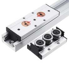1Pcs Aluminum Alloy SGR20N-500L Linear Guide With SGB20N-3UU SGB20N-5UU Slide Block Built-in Dual Axes Roller Linear Guide(China)