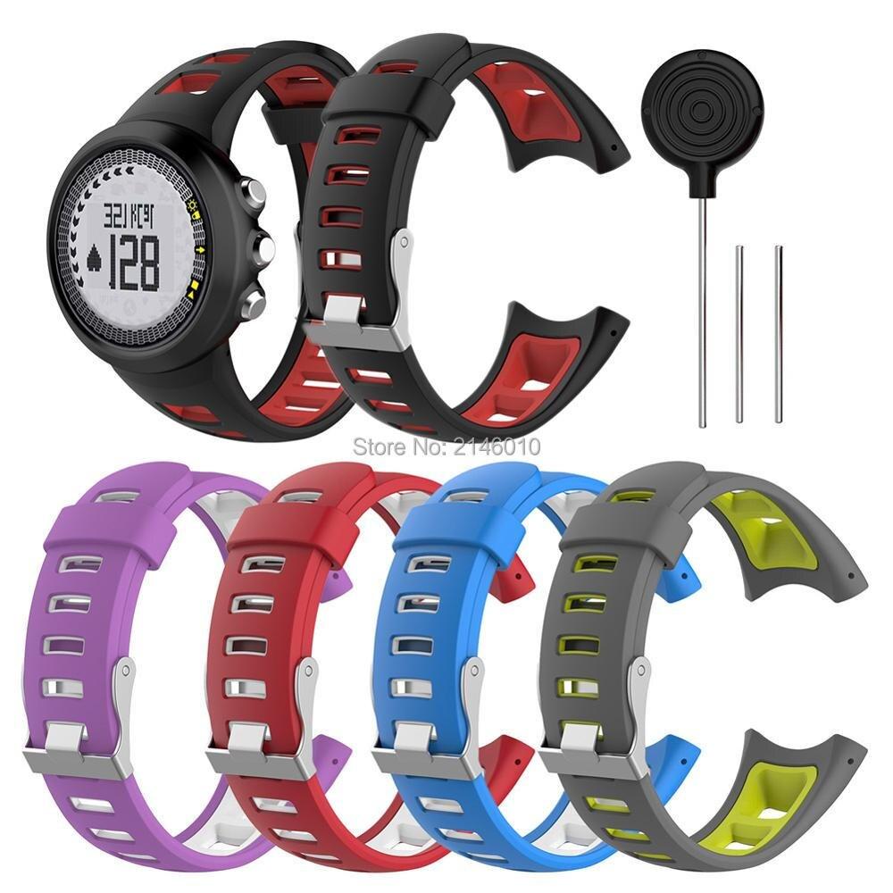 Men's Sport Watch Band Silicone Strap for SUUNTO Quest/ Suunto M1 M2 M4 M5 M Fitness Watch