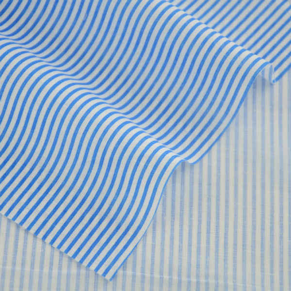 Blue and White Stripes Design 100% Cotton Fabric Patchwork Home Textile Clothing Sewing Cloth Doll's DIY Decoration Scrapbooking