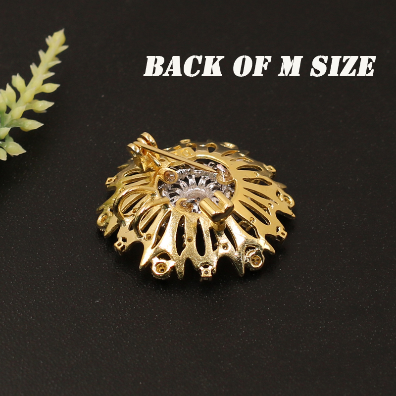 Lanyika Fashion Jewelry Exquisite Full Micro Distinct Round Brooch Pendant Dual Use for Wedding Party Sandblasting Popular Gift in Brooches from Jewelry Accessories