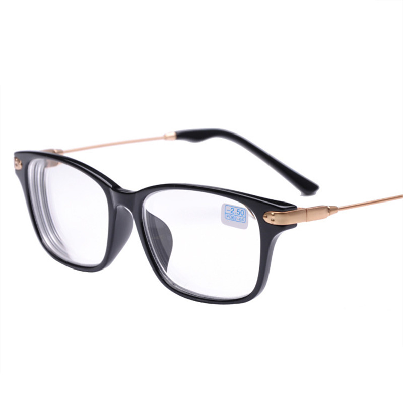 Oulylan Finished Myopia Glasses Men Women Classic Metal Design Short Sighted Eyewear With Degree Lens -1 -1.5 -2 -2.5 -3 -3.5 -4