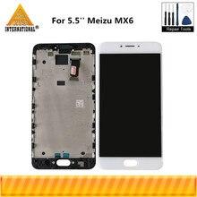 5.5 Original Axisinternational pour laffichage décran daffichage à cristaux liquides de Meizu MX6 + numériseur décran tactile avec le cadre pour le cadre daffichage de Meizu MX6