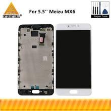 5.5 Originele Axisinternational Voor Meizu MX6 Lcd scherm + Touch Panel Digitizer Met Frame Voor Meizu MX6 Display frame