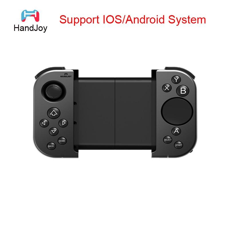 все цены на HandJoy Tmax Bluetooth Phone Joystick Gamepad Game Wireless Controller Mobile Joypad For PUBG Mobile for IOS Android Phone онлайн