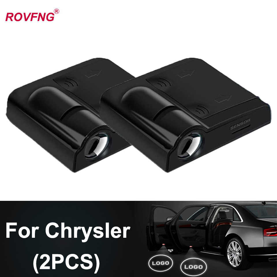 Rovfng welcome led door light for chrysler logo voyager 300m 200 pacifica town country pt cruiser