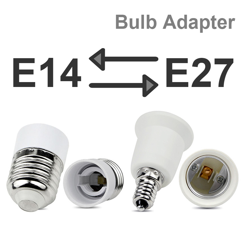 E27 To E14 To E27 Bulb Converter Bulb Extender Screw Sockets Lot Adapter Base Light Fitting Round Plastic Socket Holder LED Lamp