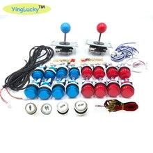 Аркады Джойстик DIY Наборы USB светодиодный кодировщик sanwa 8YT Джойстики контроллер светодиодный световая кнопка для игры аксессуары