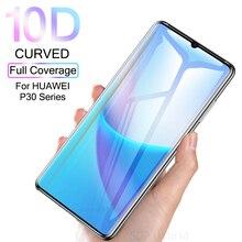 Protector de pantalla de vidrio templado para Huawei P30 Pro Lite, Protector de pantalla de vidrio templado 10D para Huawei P30 Pro Lite, película de luz curvada, Sklo