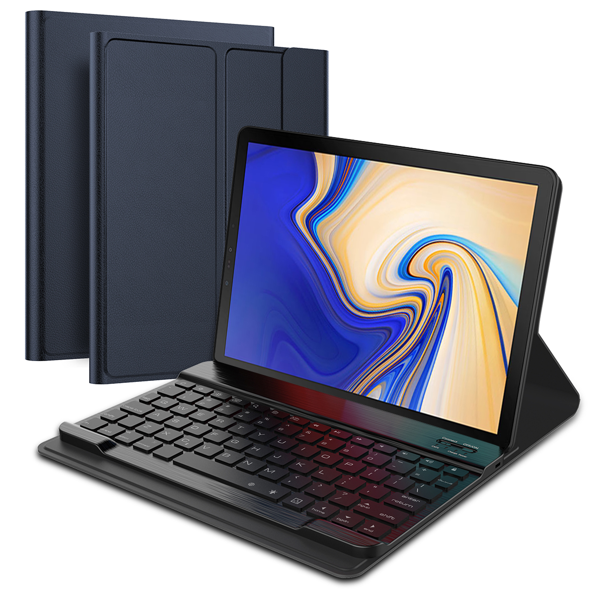 For Samsung Galaxy Tab S4 10.5 T830 T835 Tablet Case With Wireless USA Bluetooth Keyboard PU Leather Flip Stand Case
