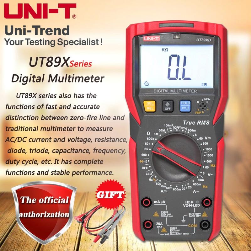 UNI T UT89X UT89XD professional NCV digital multimeter true RMS digital multimeter 20A high current digital