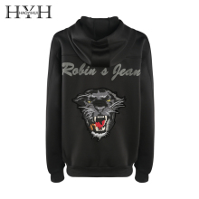 HYH HAOYIHUI Space Cotton Tiger Head Embroidered Jacket Animal Print Workwear Autumn Women Streetwear Jackets