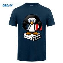 GILDAN Penguin Shirt Love Books Glasses Geek Funny Gifts T-Shirt