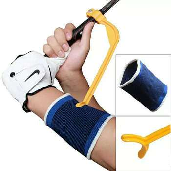 1Piece Golf Swing Trainer Beginner Gesture Alignment Training Aid Aids Correct Swing Trainer Golf Clubs Tools Accessories 1pc golf swing trainer beginner gesture alignment practice guide golf clubs gesture correct wrist training aid