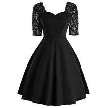 Rosetic, женское платье в винтажном стиле, сексуальное, кружевное, элегантное, алиновое, женское, простое, кружевное платье, вечерние, готическое, ретро, черное, платья, новинка