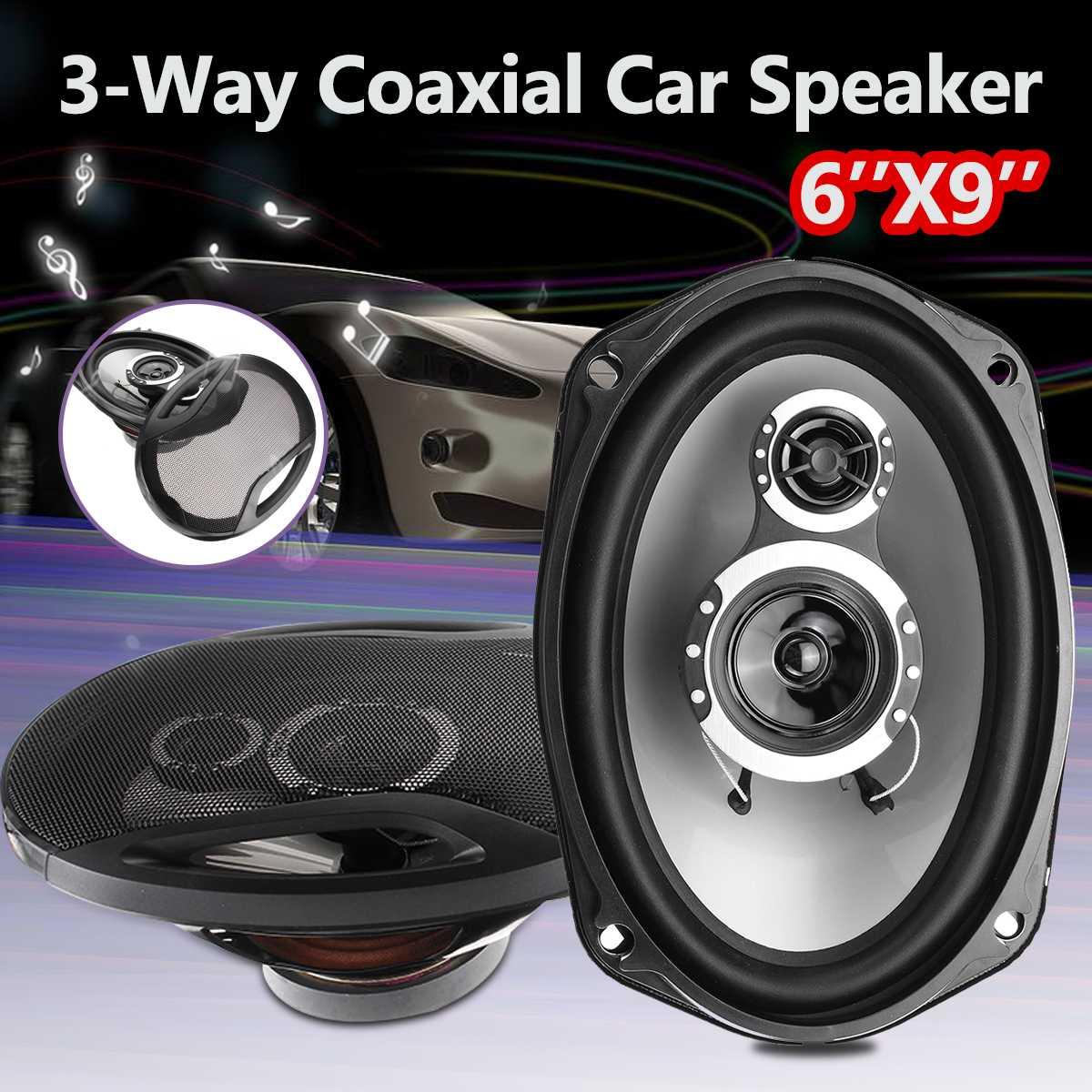 2 pièces 6 ''x 9'' 3-Way Twin Tone Auto porte de voiture étagère haut-parleurs coaxiaux 12 V 1000 W haute fréquence Hifi caissons de basses son haut-parleur