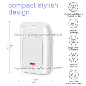 Image 3 - 700ml potężne osuszacze przenośne elektryczne osuszacze do wilgotnego, cichego, automatycznego wyłączania, osuszacz powietrza