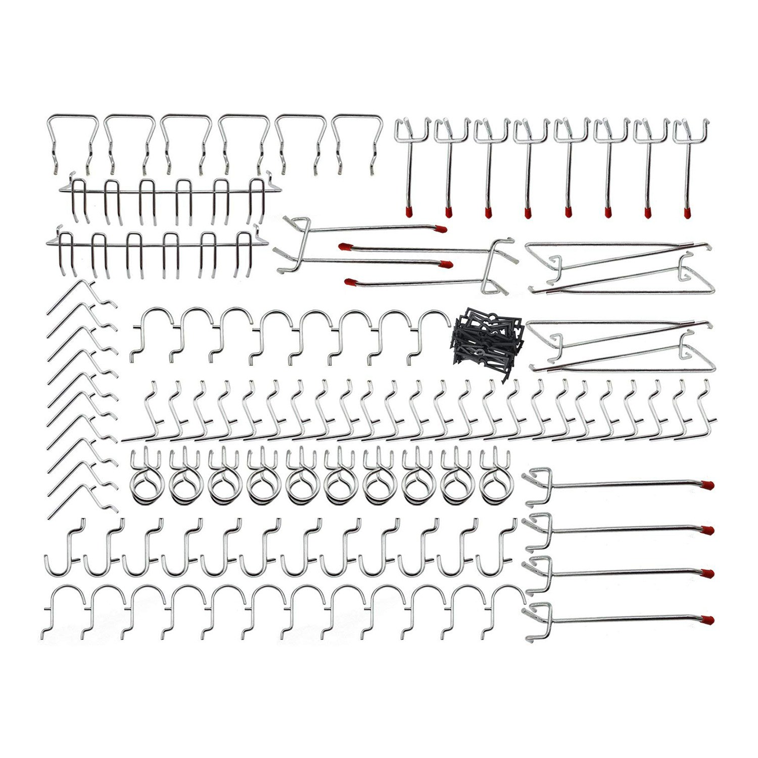 Promotion! Pegboard Hooks Assortment - 102Pcs Peg Hook Organization