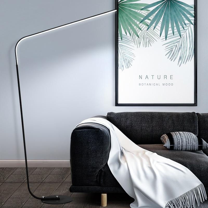 Black White Postmodern LED floor lamp for living room standing lamp 24W Family Rooms Bedrooms Offices