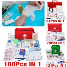 Kit de primeiros socorros portátil, bolsa de sobrevivência de 16-180 peças, mini bolsa de emergência para carro, casa, piquenique, viagem, uso ao ar livre