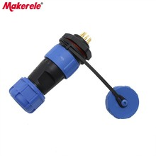 SP17 Aviation Waterproof Connectors Plug 17MM Male And Female Rear Nut Socket Connector 9 Pin Protective Plug IP68 New Arrivals