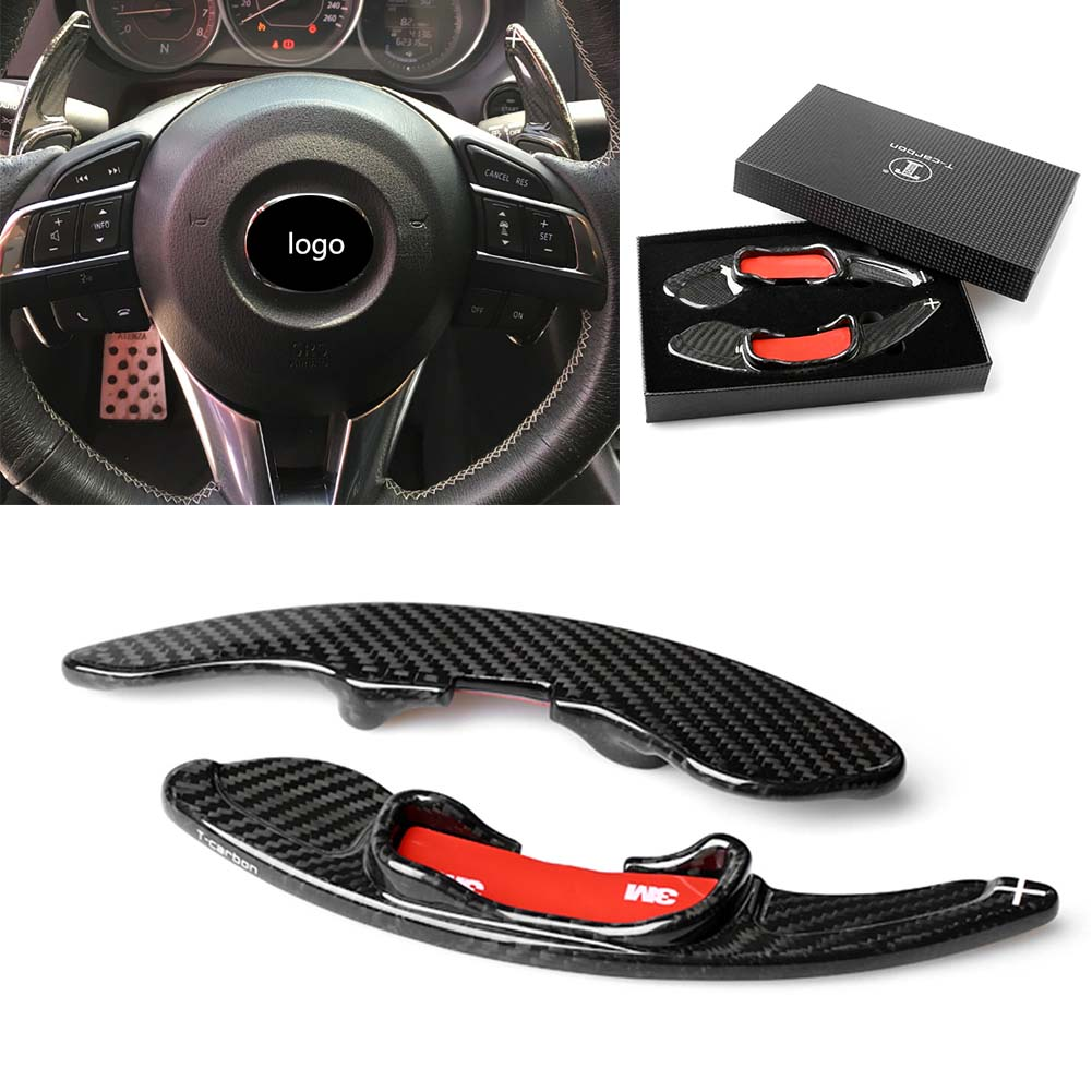 Carbon Fiber Paddle Paddle Shift Steering Wheel Shifter For Mazda CX5 CX3 6 3