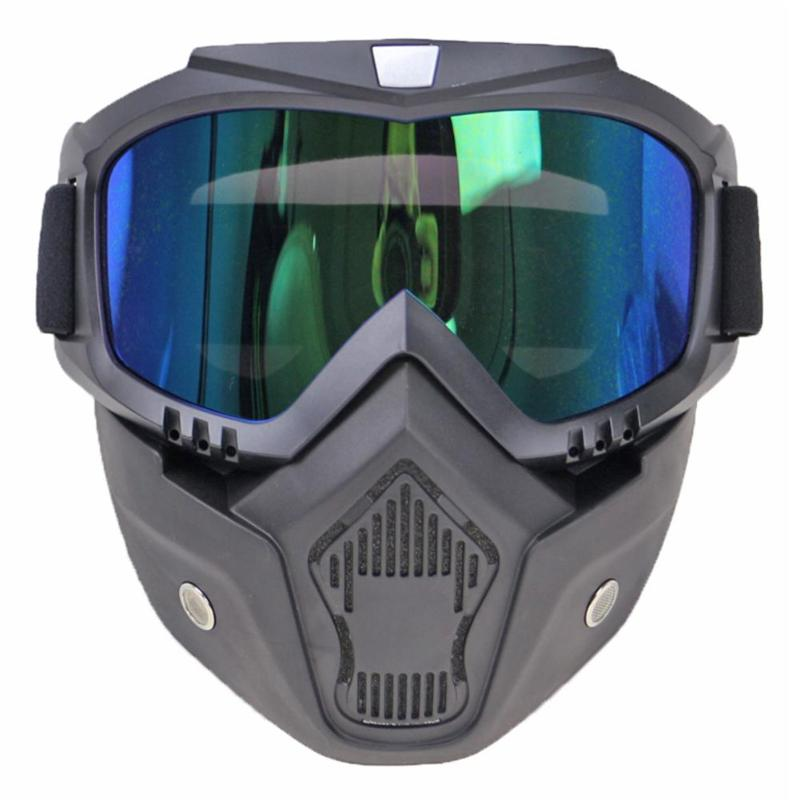 Glasses Helmet Protective-Gears Bicycle Cross-Goggles Ski-Sport Off-Road Racing Detachable-Mask title=