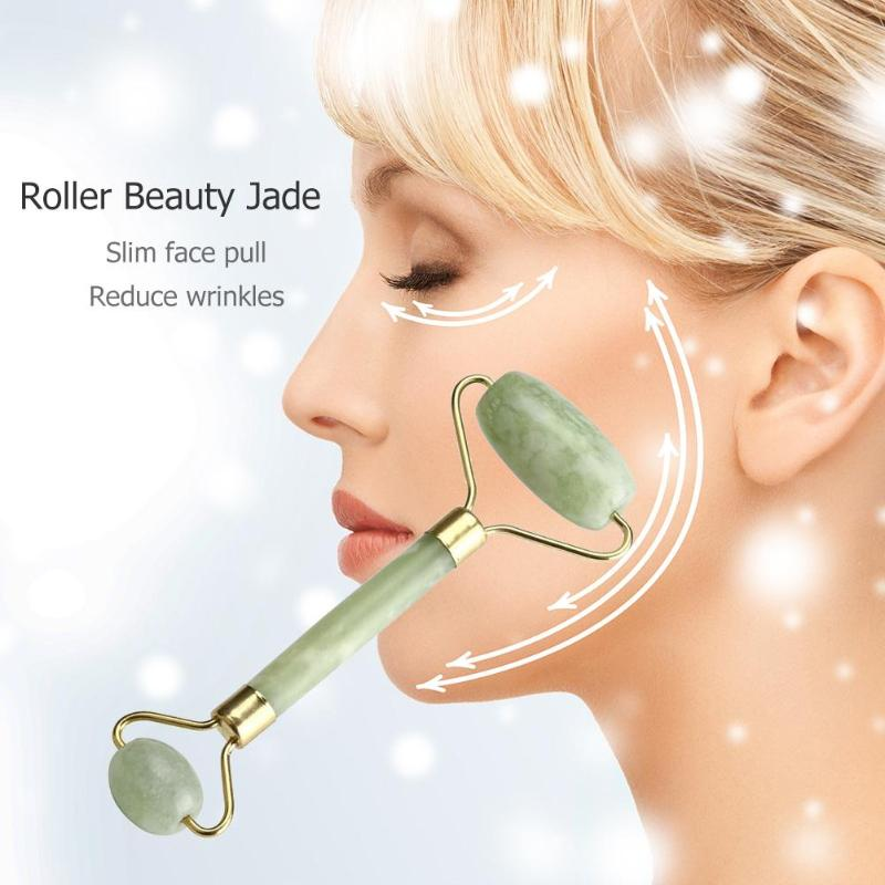 Natural Facial Beauty Massage Tool Jade Roller Lifting Anti-wrinkles Face Thin Relax Massager 2019 Easter Gift Face Mask Tool