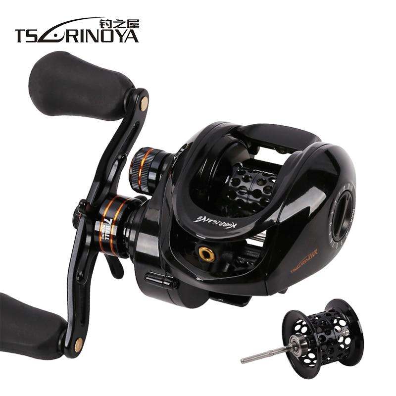 TSURINOYA HE 150 6 6 1 Low Profile Baitcasting Fishing Reel Left Right Hand 2 Spool