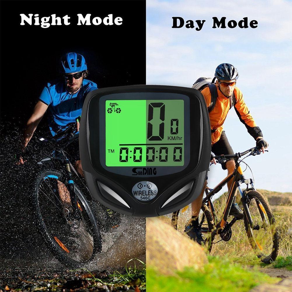 Multifunctions Bicycle Speedometer Odometer Backlight LCD Luminous Display MTB accessories