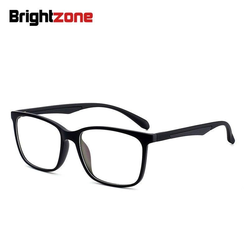 Brightzone Lightweight TR90 Full Rim Blue Light Blocking Glasses Comfortable Students Eyeglasses For Computer Use Anti Eyestrain