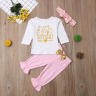 PUDCOCO Baby Girl First Birthday Outfits Clothes T shirt Top Blouse Pants 3PCS Set 0-24M