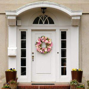 Image 4 - Grinalda artificial da peônia da grinalda da flor grinalda da mola da grinalda da porta de 16 polegadas para a porta da frente, casamento, casa d