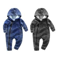 79586f9c2 Buy soft denim baby romper and get free shipping on AliExpress.com