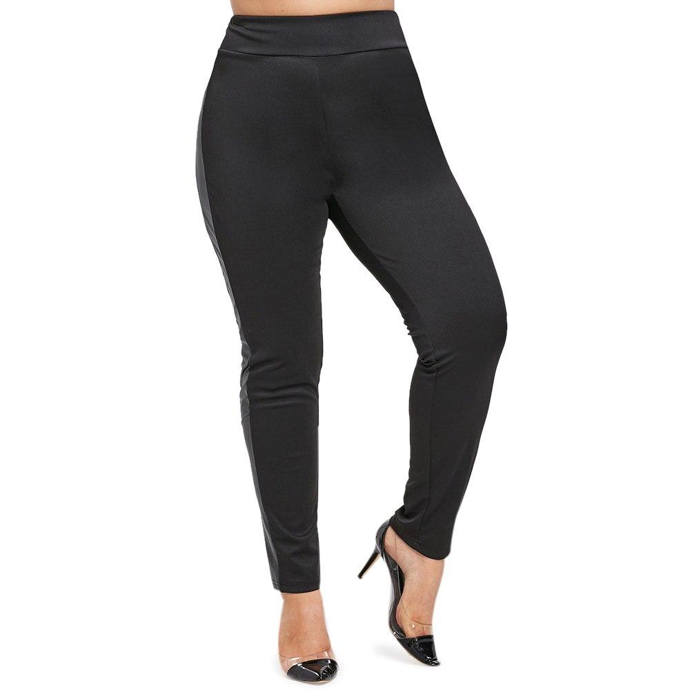 Wipalo Plus Größe Faux Leder Leggings Frauen Hohe Taille Leggings Stretch Dünne Schwarz Legging Mode PU Leder Hosen Frauen
